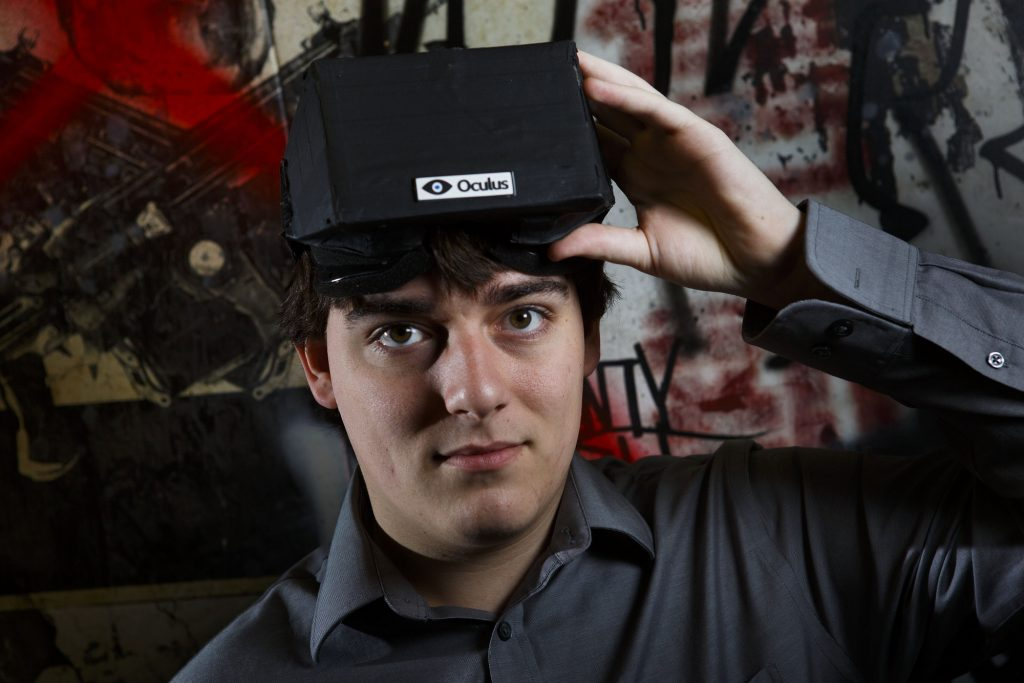 FILE -- Palmer Luckey, the creator of the Oculus Rift virtual reality gaming headset, at his workshop in Irvine, Calif., Feb. 6, 2013. Facebook announced on March 26, 2014, that it was buying Oculus for $2 billion, signaling its belief in virtual reality as an essential platform for future growth. (Patrick T. Fallon/The New York Times)